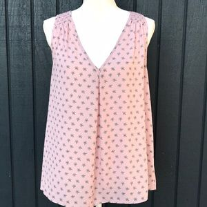 Loft Pink Sleeveless Blouse